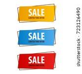 special offer sale banner for...   Shutterstock .eps vector #723126490