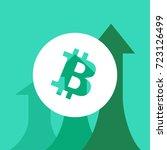 bitcoin price growth. crypto... | Shutterstock .eps vector #723126499