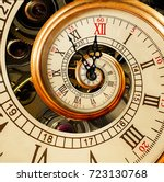 abstract new year clock.... | Shutterstock . vector #723130768
