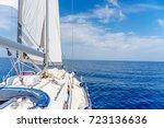yacht near sardinia island | Shutterstock . vector #723136636