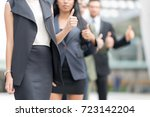 in selective focus of confident ... | Shutterstock . vector #723142204