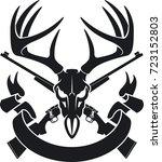Deer Skull With Crossing...
