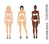 set of vector women in...   Shutterstock .eps vector #723155938