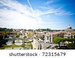 The beauty of Rome - stock photo