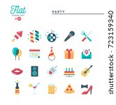 party  celebration  fireworks ... | Shutterstock .eps vector #723159340
