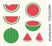 watermelon vector   Shutterstock .eps vector #723162490