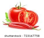 isolated vegetables. fresh cut... | Shutterstock . vector #723167758