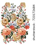 graceful flowers  the leaves...   Shutterstock . vector #723172684