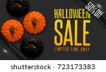 design banner autumn sale.... | Shutterstock .eps vector #723173383
