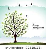 Vector Spring Scene