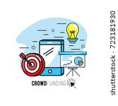 crowdfunding strategy project... | Shutterstock .eps vector #723181930