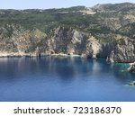 the high grey cliff on... | Shutterstock . vector #723186370