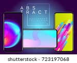 phone abstract futuristic... | Shutterstock .eps vector #723197068