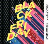 vector bright black friday... | Shutterstock .eps vector #723199900