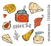 hand drawn cheese collection | Shutterstock .eps vector #723202126