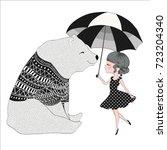 cute animal illustration.circus ... | Shutterstock .eps vector #723204340