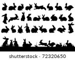 Stock photo rabbit silhouettes for easter decorations 72320650