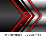 abstract red arrow future... | Shutterstock .eps vector #723207466