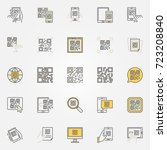 Qr Code Colorful Icons Set  ...