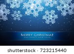 snowflakes  realistic christmas ... | Shutterstock .eps vector #723215440