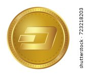 cryptocurrency dash | Shutterstock .eps vector #723218203