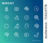 neurology concept thin line... | Shutterstock .eps vector #723219778