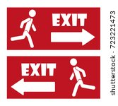 exit icon | Shutterstock .eps vector #723221473