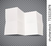 piece of white paper with folds ... | Shutterstock .eps vector #723221878