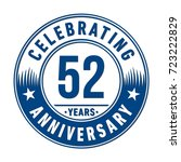 52 years anniversary logo.... | Shutterstock .eps vector #723222829