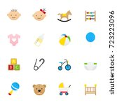 baby and toy icons. set of... | Shutterstock .eps vector #723223096