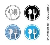flat icons  thin line icons ... | Shutterstock .eps vector #723228850