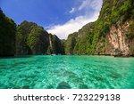 beautiful sea at koh phi phi ...   Shutterstock . vector #723229138