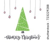 merry christmas lettering with... | Shutterstock .eps vector #723229288