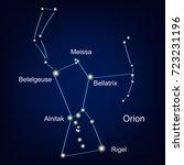 constellation orion hunter... | Shutterstock .eps vector #723231196