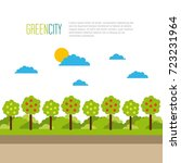 green city tree natural... | Shutterstock .eps vector #723231964