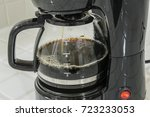 coffee maker pot filling close... | Shutterstock . vector #723233053