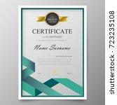 certificate premium template... | Shutterstock .eps vector #723235108