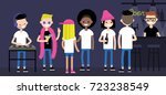 party in a nightclub. an... | Shutterstock .eps vector #723238549
