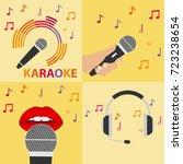 karaoke microphone  microphone...   Shutterstock .eps vector #723238654