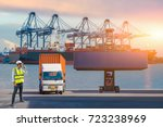 foreman control loading... | Shutterstock . vector #723238969