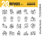 refugee and immigration icon...   Shutterstock .eps vector #723240844