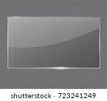 vector glass frame. isolated on ... | Shutterstock .eps vector #723241249