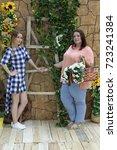 charming girls girlfriends... | Shutterstock . vector #723241384