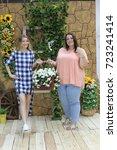 charming girls girlfriends... | Shutterstock . vector #723241414