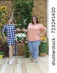 charming girls girlfriends... | Shutterstock . vector #723241420