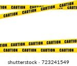 yellow caution tape  isolated... | Shutterstock .eps vector #723241549