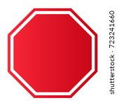 blank stop sign | Shutterstock .eps vector #723241660