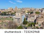 view of the forum romanum ... | Shutterstock . vector #723242968