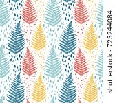 seamless pattern with colorful  ... | Shutterstock .eps vector #723244084