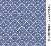 fish scale seamless pattern.... | Shutterstock .eps vector #723244660